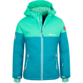 TROLLKIDS Hallingdal Jas Meisjes, light petrol/dark mint/white